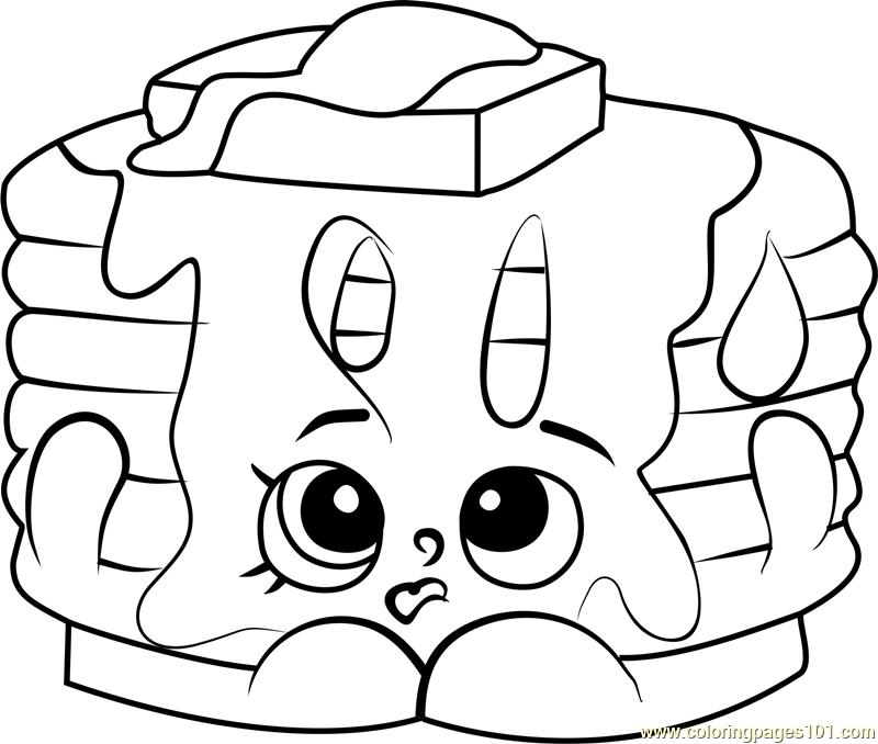 800x678 Pamela Pancake Shopkins Coloring Page