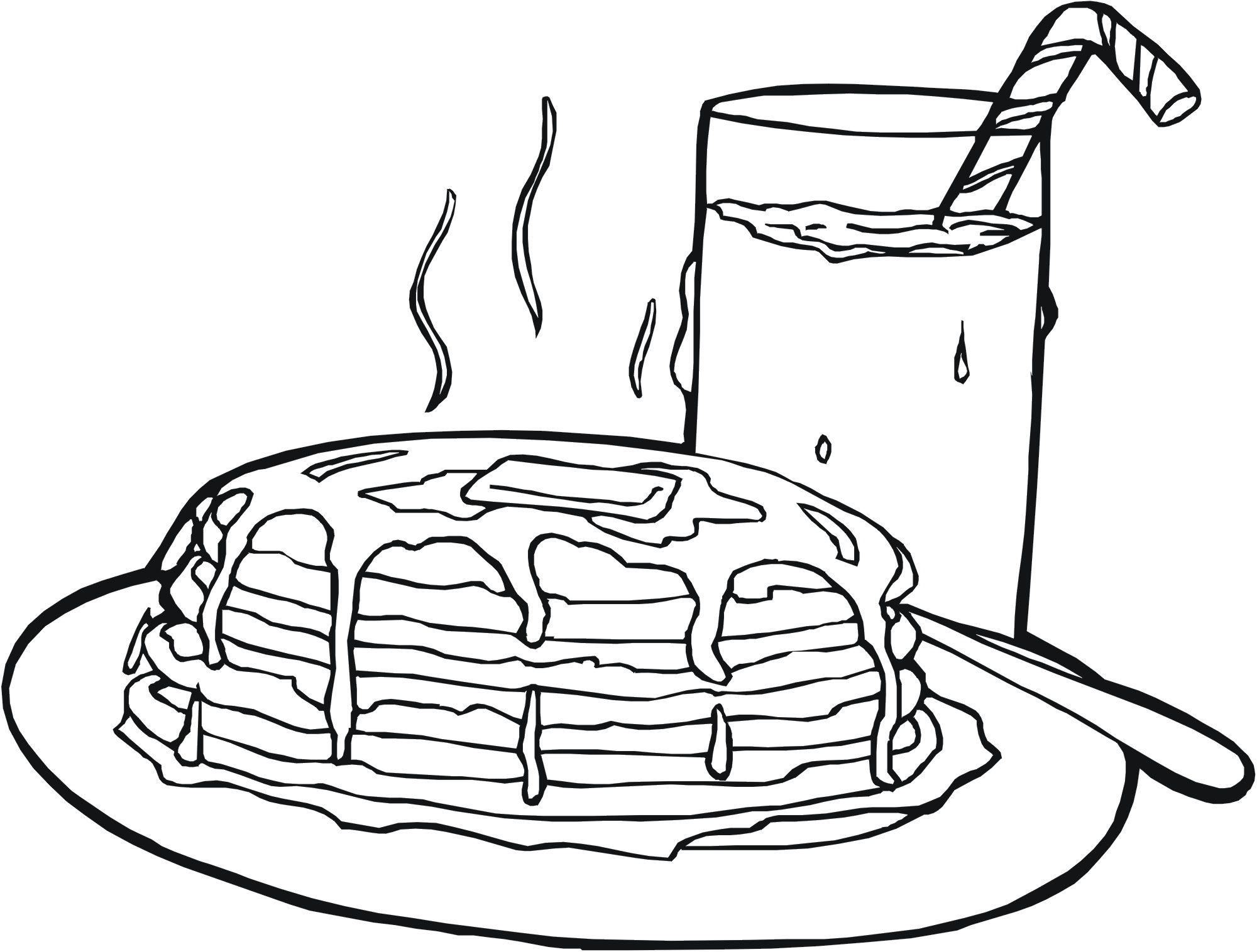 2000x1516 Pancake Coloring Pages