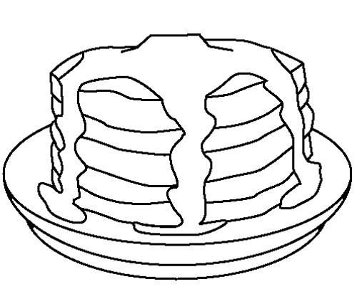 500x413 Pancake Coloring Pages Images Free Coloring Pages