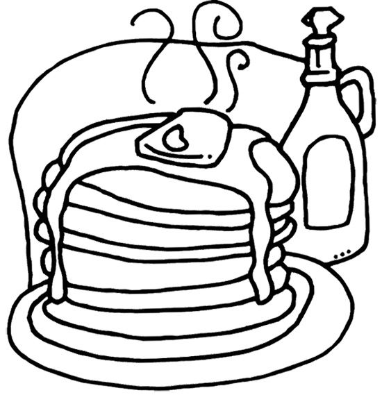 550x569 Pancakes With Drink Coloring Page Cookie Pancakes