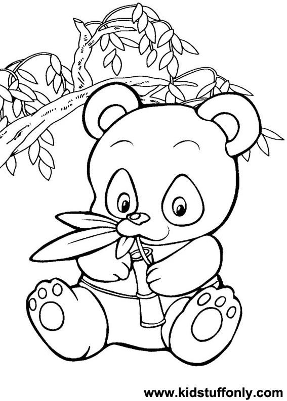 567x794 Coloring Picture Of Panda Bear Extraordinary Panda Bear Coloring