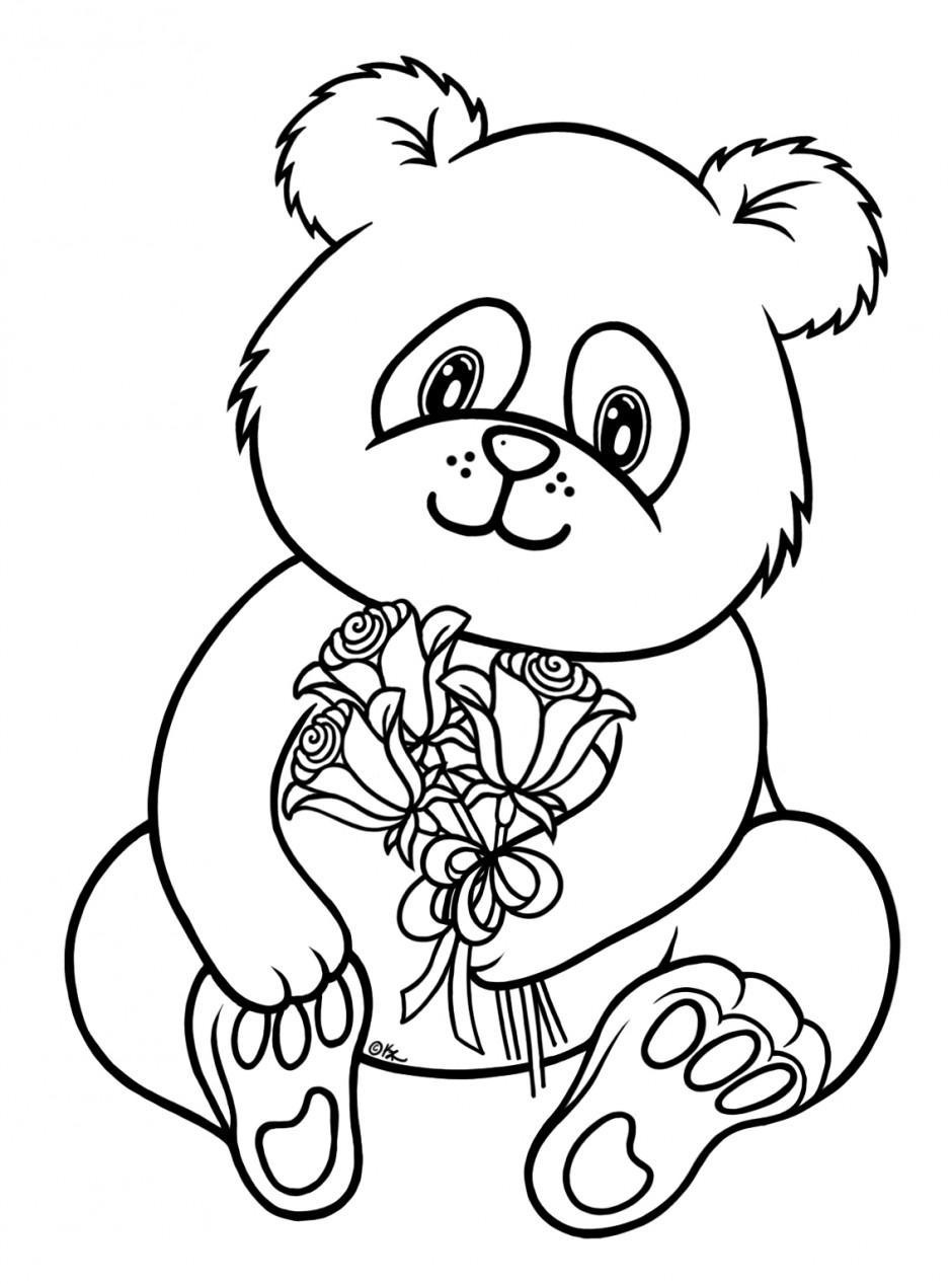 Panda Bear Coloring Pages Printable At Getdrawings Com Free For