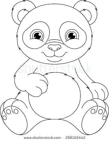 363x470 Printable Panda Bear Coloring Sheets Panda Coloring Pages Panda