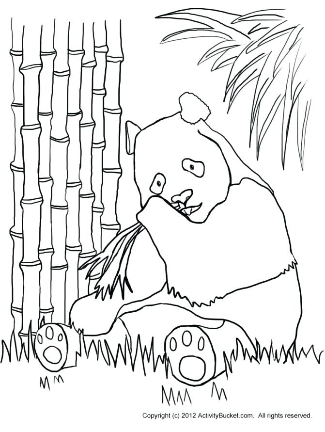 671x891 Printable Panda Bear Coloring