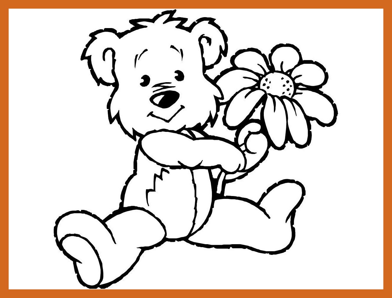 1324x1008 Appealing Teddy Bear Coloring Pages Theme Printable Of Panda Print