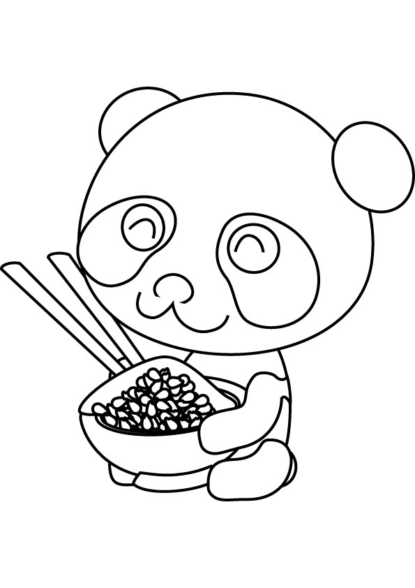 595x842 Cute Baby Panda Coloring Pages
