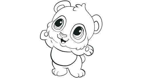 500x280 Giant Panda Coloring Page Coloring Pages Of Pandas Also Baby Panda