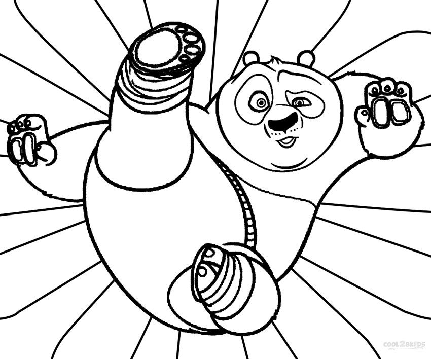 850x708 Kung Fu Panda Coloring Pages Free Printable
