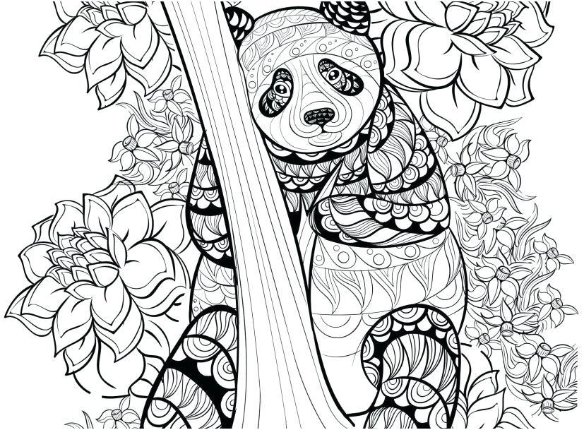 827x609 Panda Coloring Page Panda Coloring Pages Free Printable