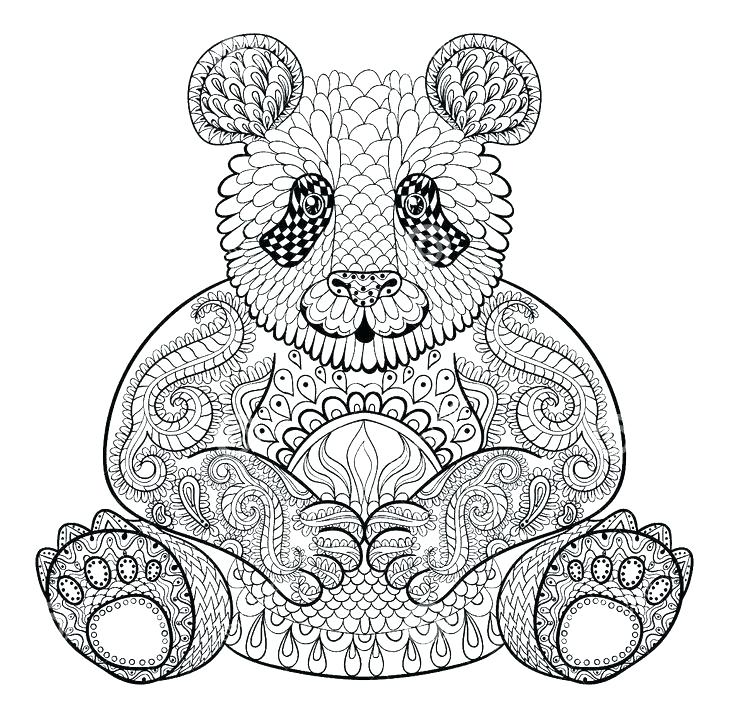 736x706 Panda Coloring Pages Printable Panda Coloring Pages Adult Coloring