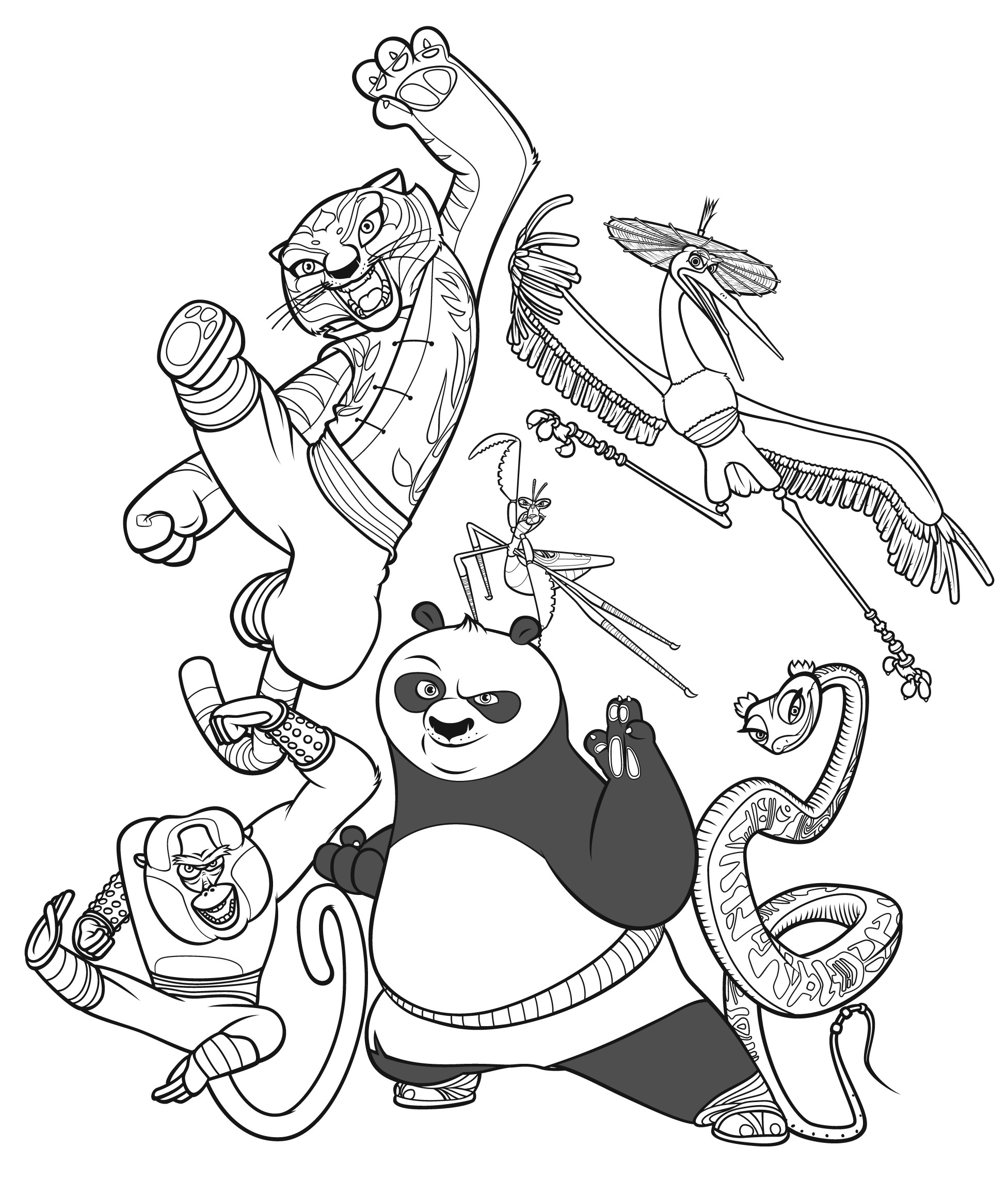 1953x2283 Panda Coloring Pages To Print New Free Printable Kung Fu Panda