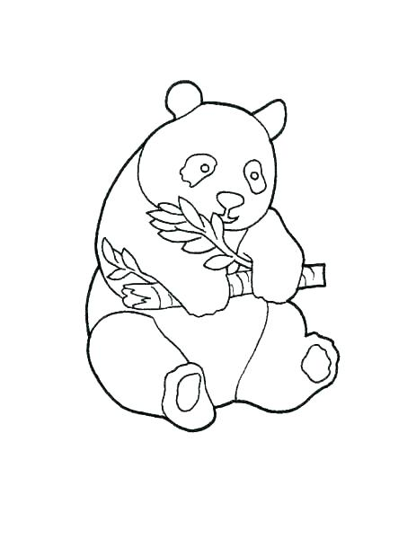 463x600 Cute Panda Coloring Pages