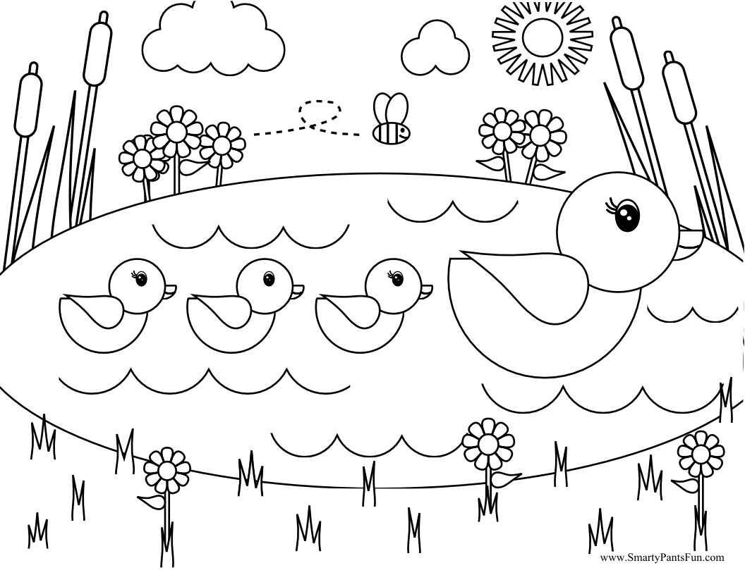 1056x816 Duck Coloring Pages Wecoloringpage Cute Baby Page Animal Donald