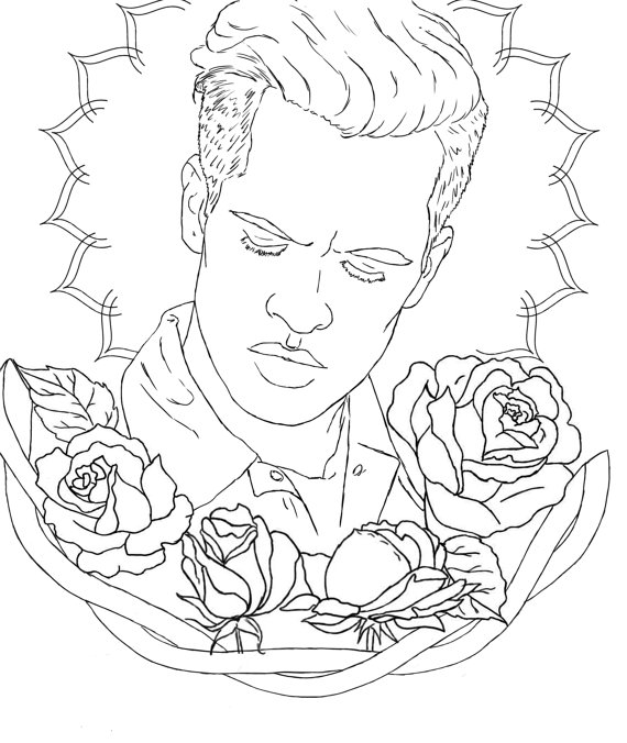 570x676 Items Similar To Brendon Urie Colouring Page On Etsy