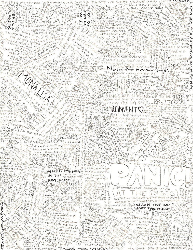 786x1016 Panic At The Disco Lyric Color