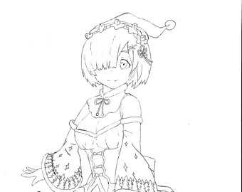340x270 Cat Coloring Page Kitten Coloring Page Hand Drawn Cat Cute