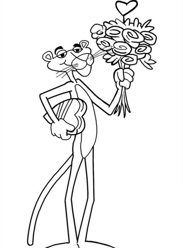 600x814 Pink Panther Coloring Pages Best Of Black Pink Panther Pages