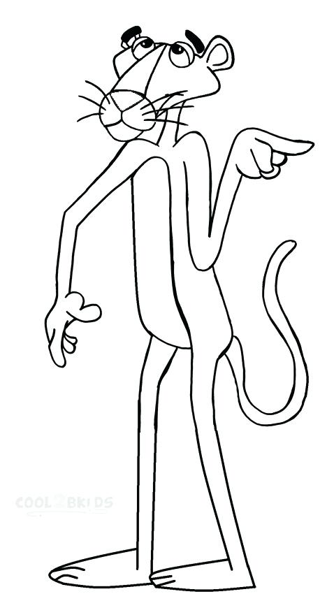 468x850 Panther Coloring Page Pink Panther Coloring Page Panther Paw