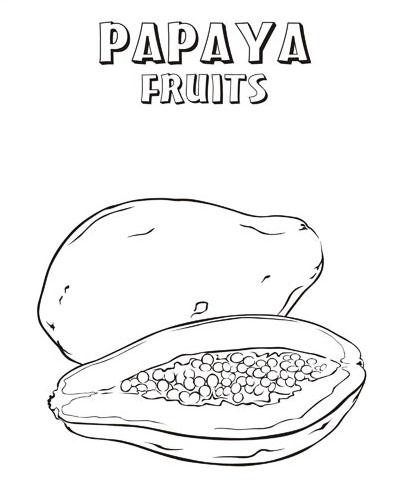 401x490 Papaya, Coloring Sheets