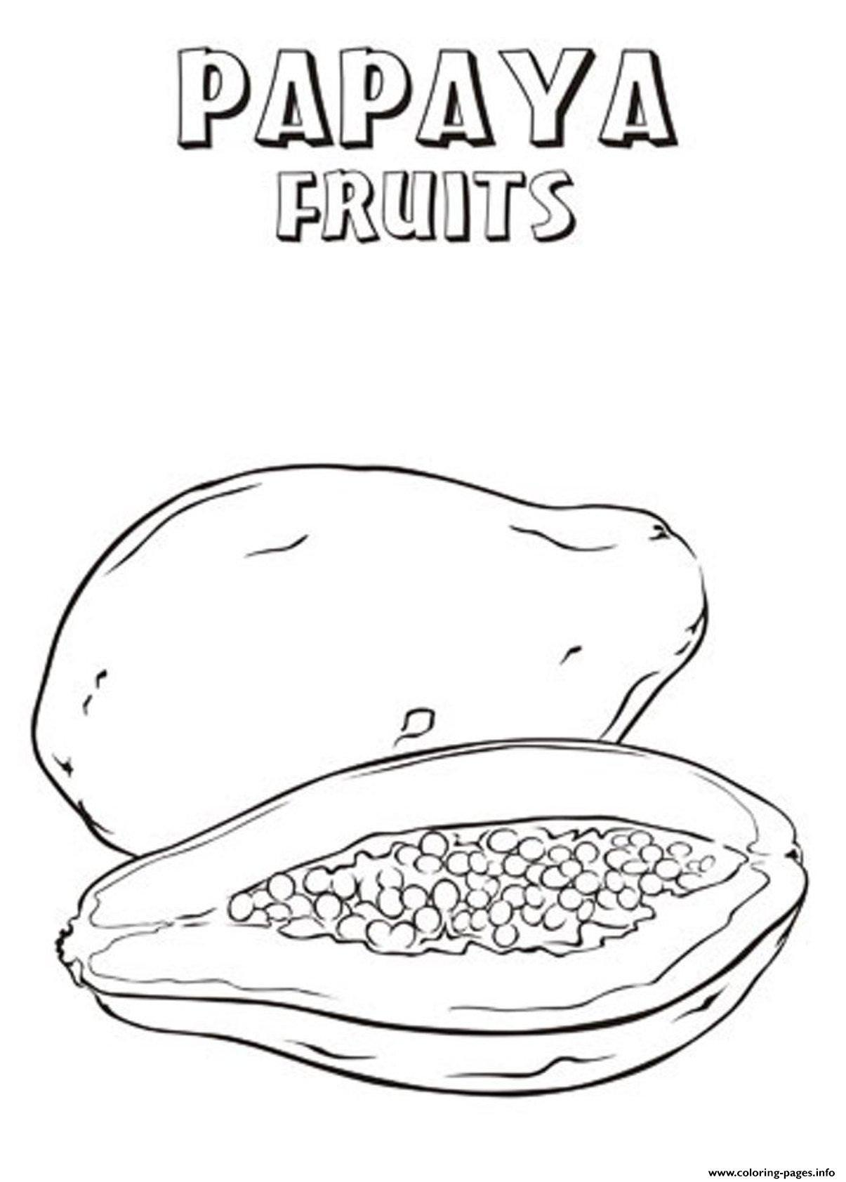 1205x1684 Papaya Fruit Coloring Pages