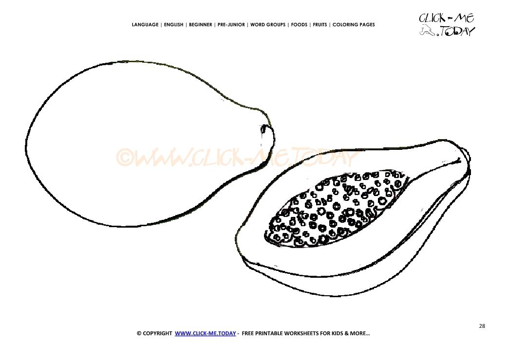 1041x736 Papaya Coloring Page
