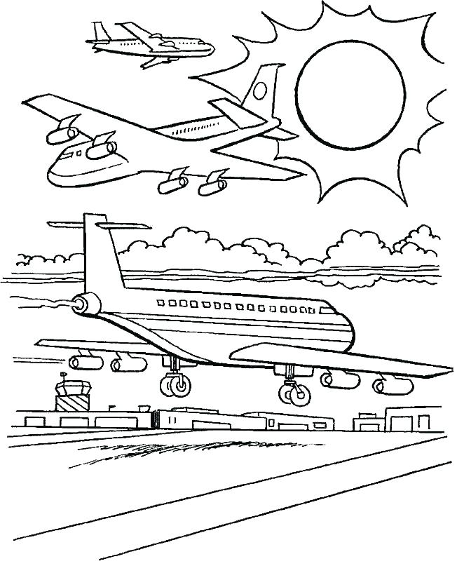 652x817 Beautiful Plane Coloring Page Free Download Beautiful Plane