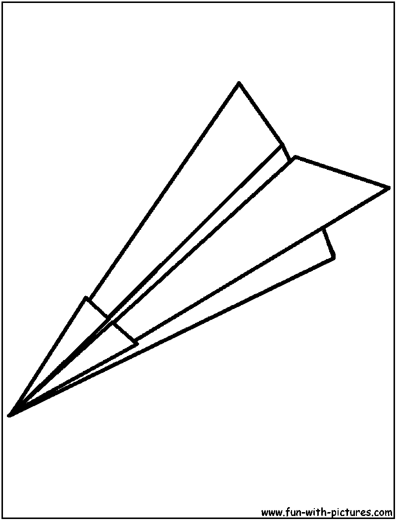 800x1050 Paper Airplane Coloring Pages