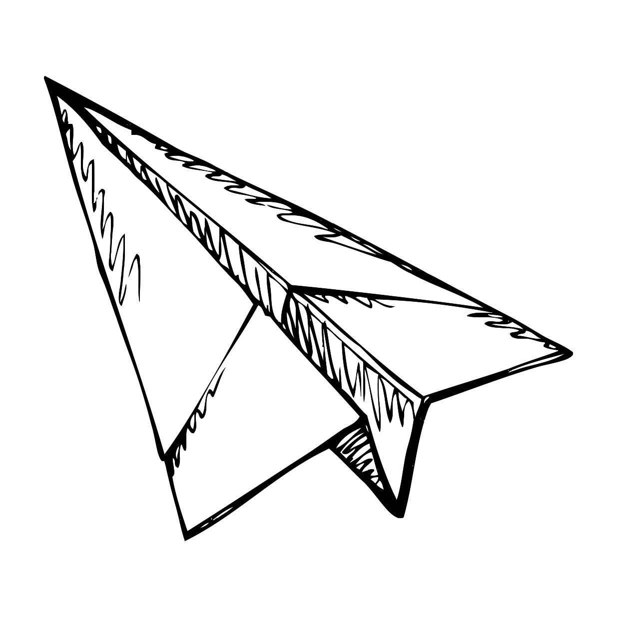 1235x1235 Paper Airplane Drawing Printable Image Illustration Sketch