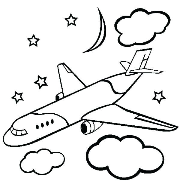 600x612 Airplane Coloring Page Airplane Coloring Pages Printable Free Kids
