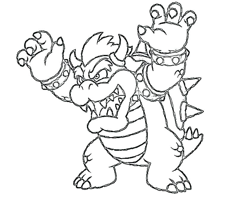 800x667 Bowser Coloring Pages Coloring Pages Pics Of Dark Jr Coloring