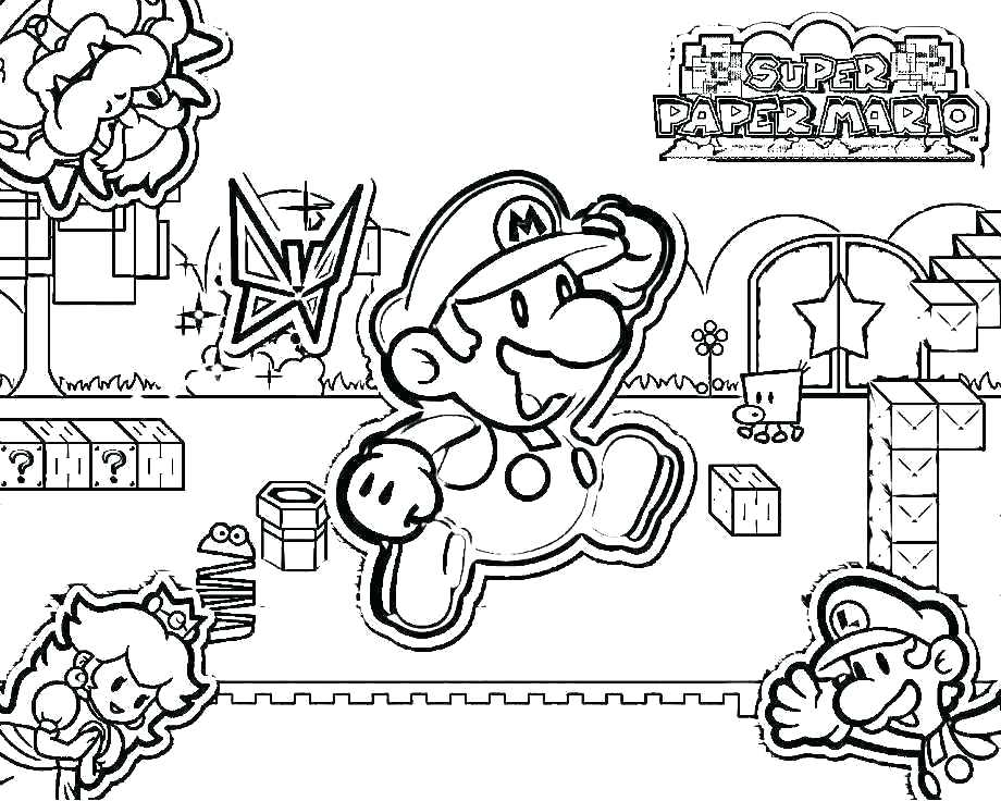 920x736 Bowser Coloring Pages Page Super Princess Peach And Editor Jr
