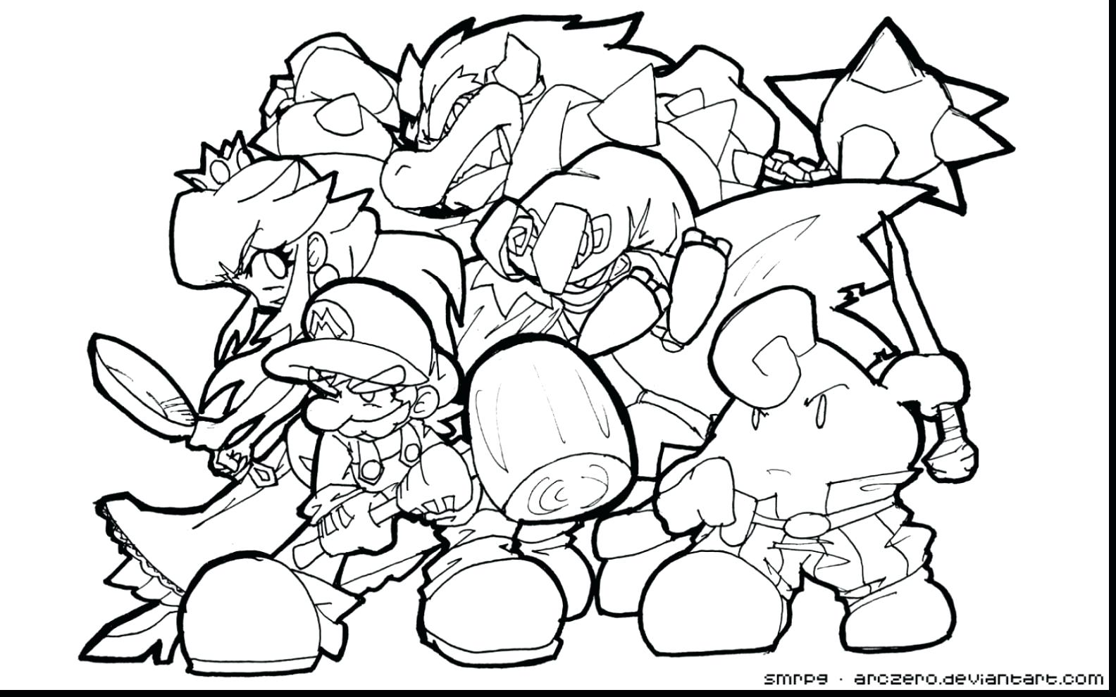 1584x990 Bowser Coloring Pages Paper Within