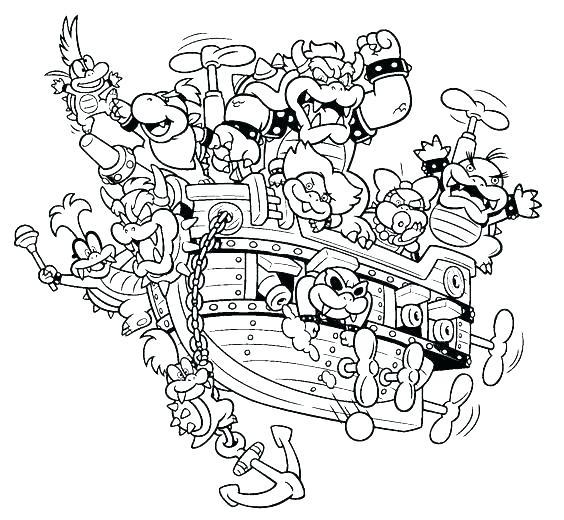 564x520 Bowser Coloring Page Coloring Page Coloring Page Jr Coloring Pages