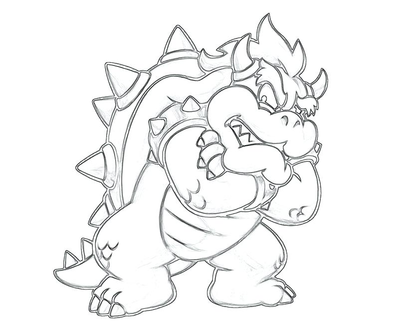 800x667 Dry Bowser Coloring Pages Character Coloring Pages Online
