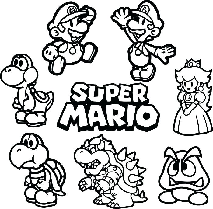 700x687 Mario Coloring Pages Coloring Pages Gallery Of Super Coloring