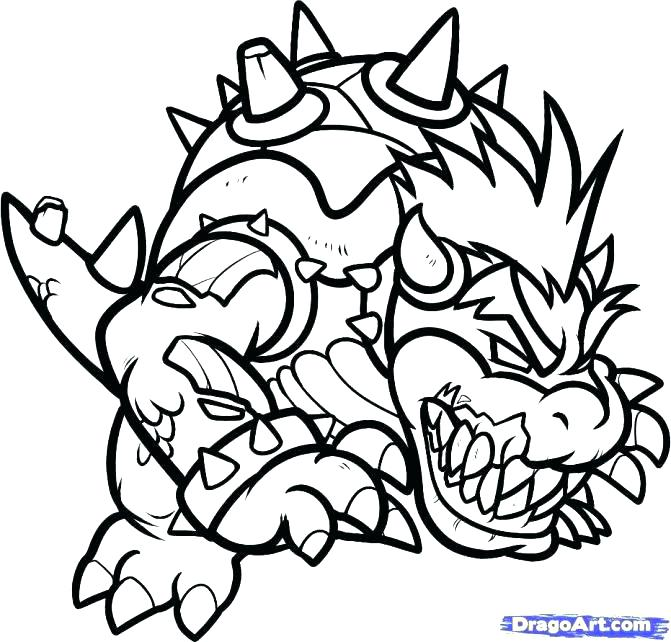 671x642 Paper Bowser Coloring Pages Coloring Page Cat Coloring Page Paper