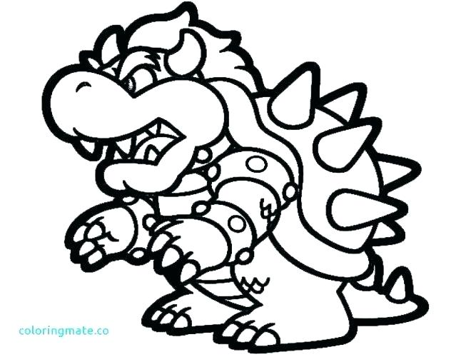 667x500 Paper Bowser Coloring Pages Coloring Pages Coloring Page Coloring