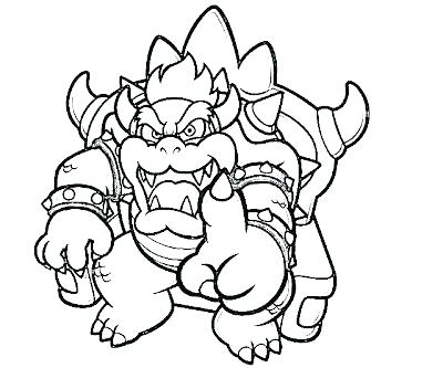 Paper Bowser Coloring Pages At Getdrawings Com Free For