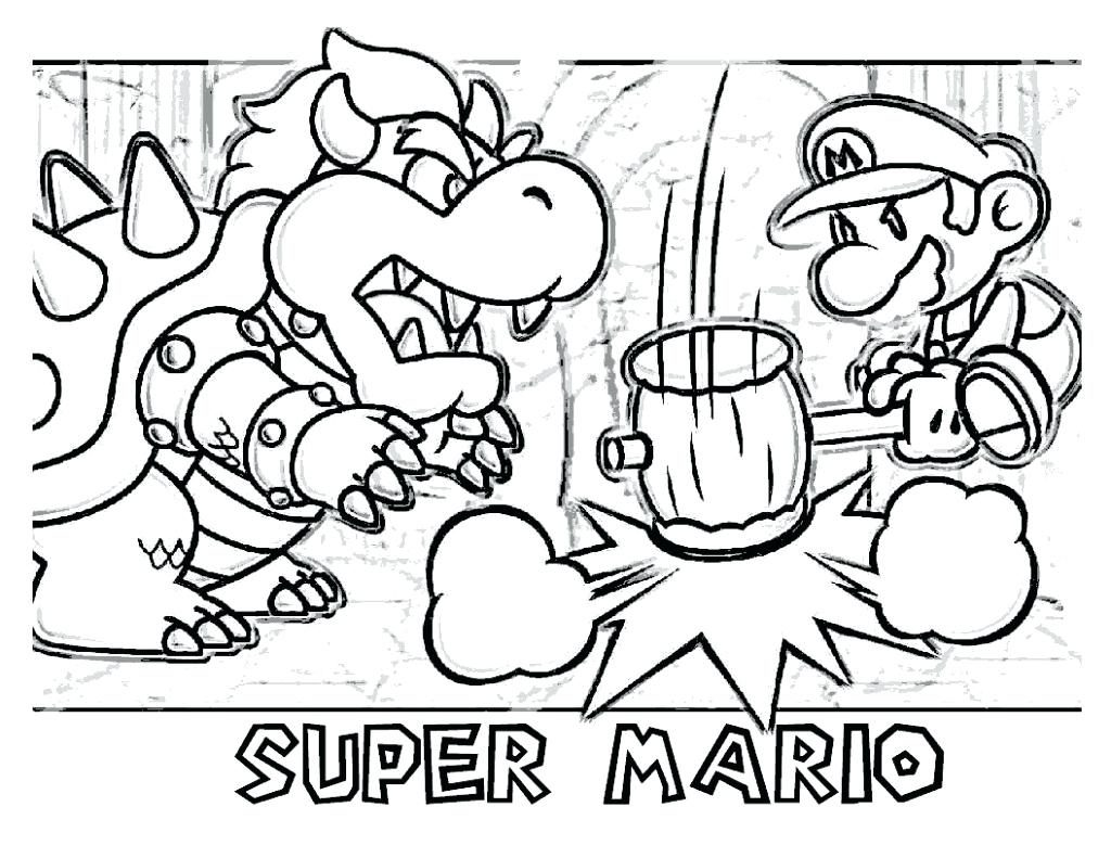 1024x791 Coloring Page Bowser Coloring Page Pages Mario Jr Bowser