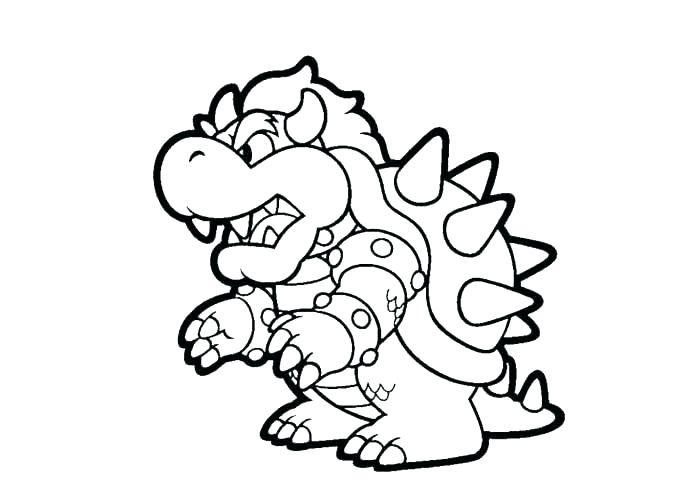 700x500 Paper Bowser Coloring Pages Bowser Coloring Pages Coloring Pages