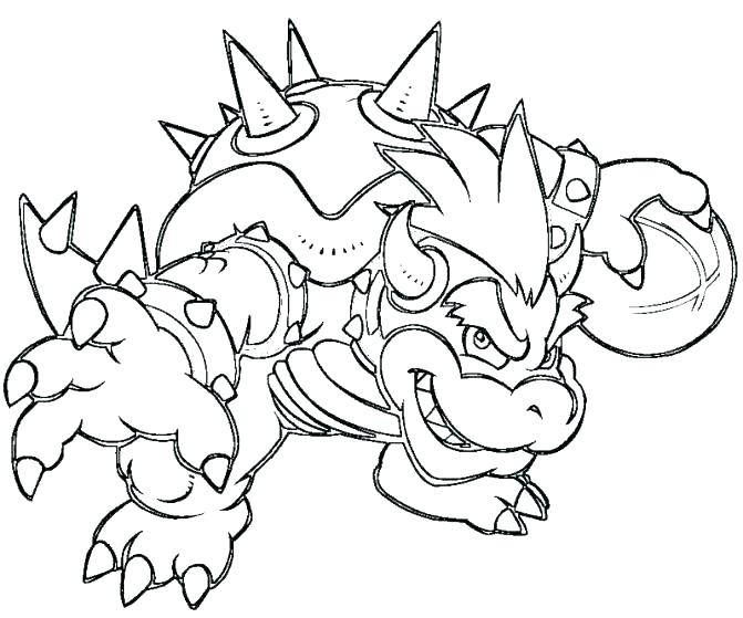 671x559 Bowser Coloring Page Coloring Pages Paper Coloring Pages