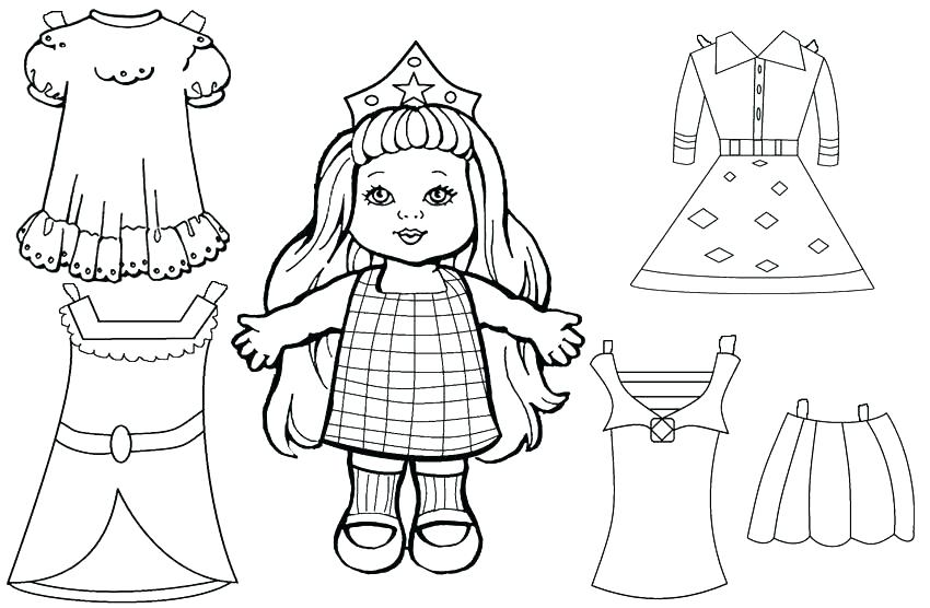 850x556 Paper Doll Coloring Pages Coloring Pages Paper Doll Coloring Page