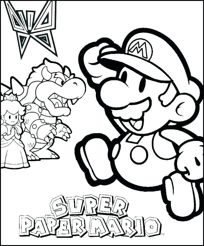 666x800 Paper Mario Coloring Page Super Paper Coloring Pages Top Rated