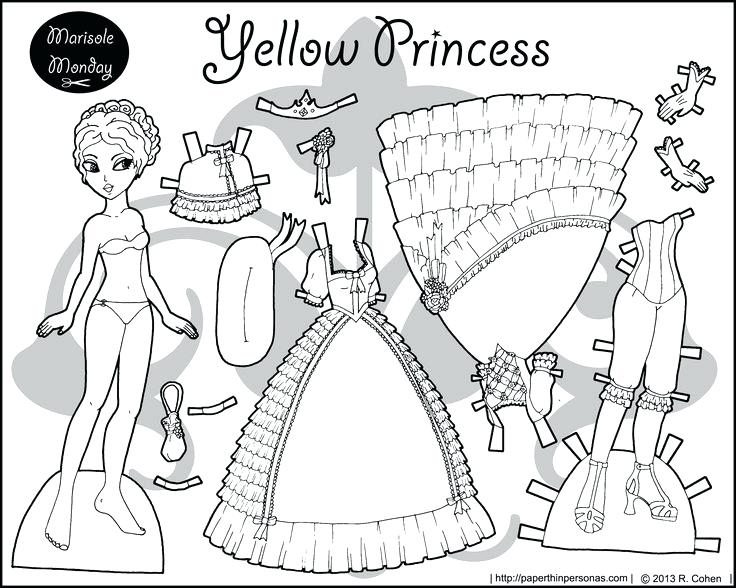 736x588 Paper Doll Coloring Pages Pony Paper Doll Coloring Page Paper Doll