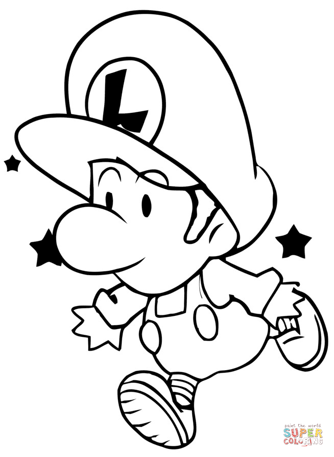 paper mario coloring pages at free for personal use paper mario coloring pages. Black Bedroom Furniture Sets. Home Design Ideas