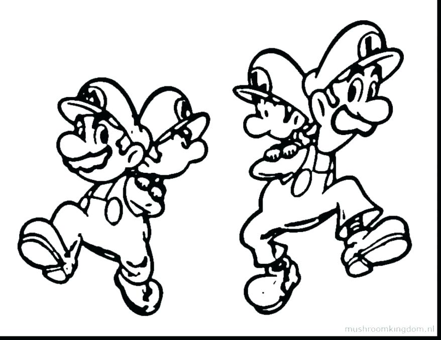 878x677 Mario And Luigi Coloring Pages Icontent