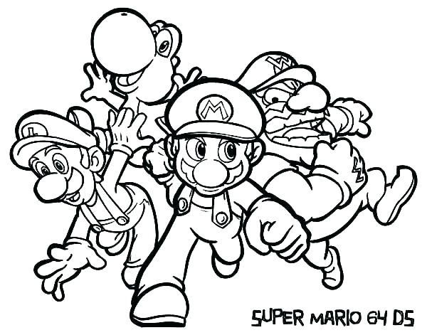 600x471 New Super Mario Coloring Pages To Print