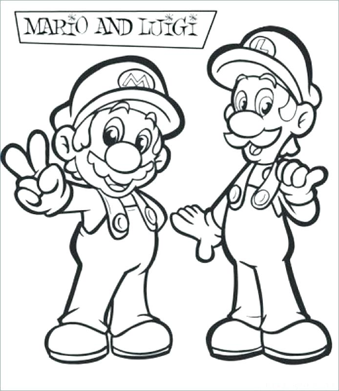694x800 Paper Mario Coloring Pages Coloring Sheets Bros Coloring Pages