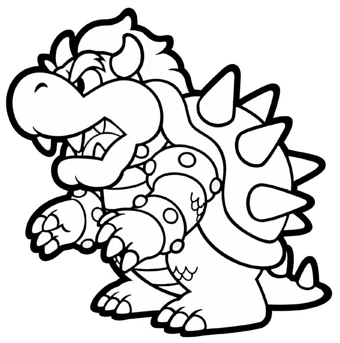 693x700 Paper Mario Coloring Pages Printable Free Coloring Sheets