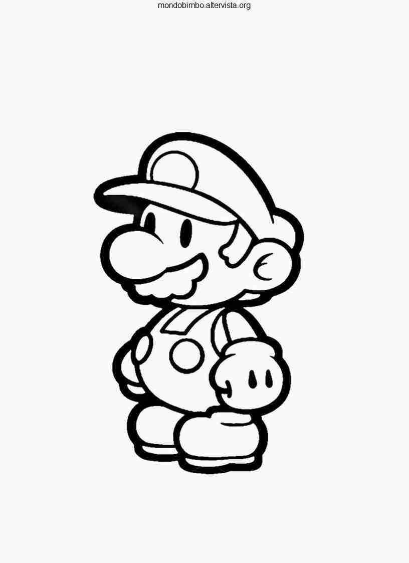 816x1123 Super Paper Mario Coloring Pages Best Olegratiy